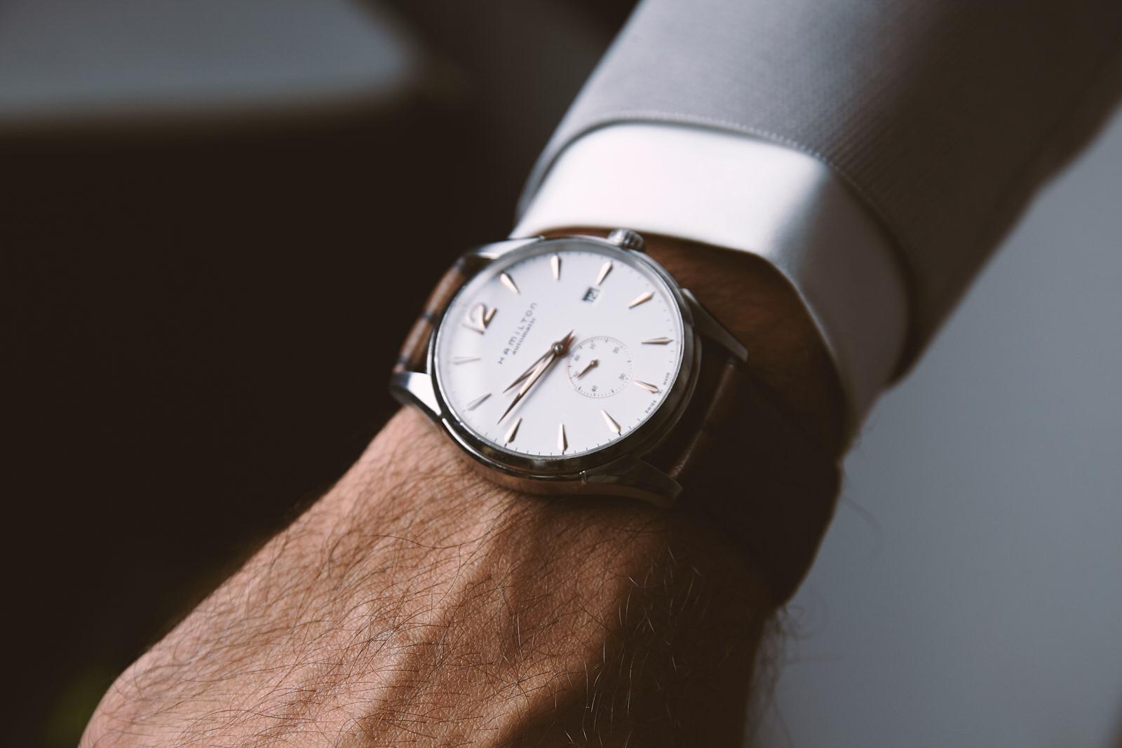 sposo orologio vestito accessori matrimonio stile